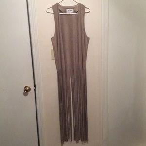 BB Dakota • Taupe Suede Fringe Vest